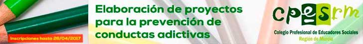 Banner curso elaboración proyectos adicciones TOP