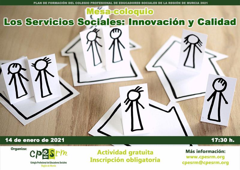 """Mesa-coloquio virtual """"Los Servicios Sociales: Innovación y Calidad"""""""