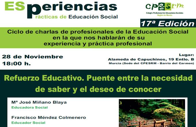 ESperiencias 17 - Refuerzo Educativo. Puente entre la necesidad de saber y el deseo de conocer